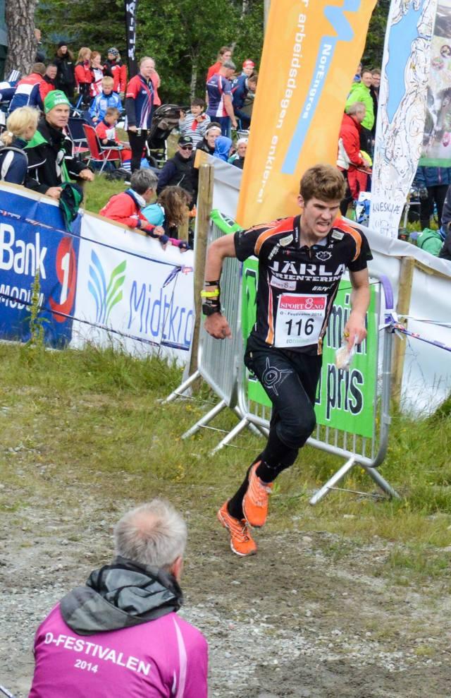 Oppløpet på sprinten. Foto: Inger Lise Uhlen