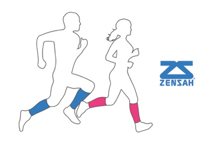 Runners with logo