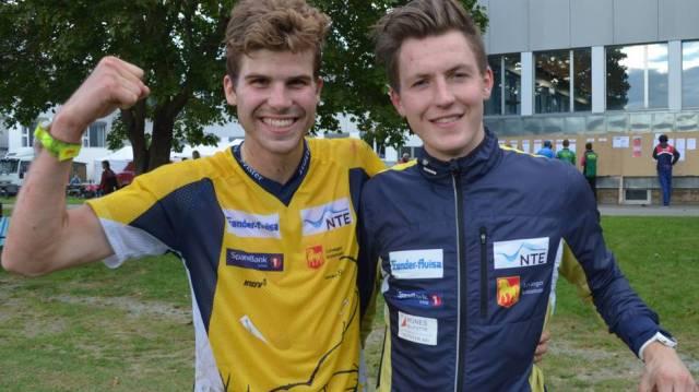 Meg og Carl Petter under norgescupavslutningen. 3. og 6.plass.